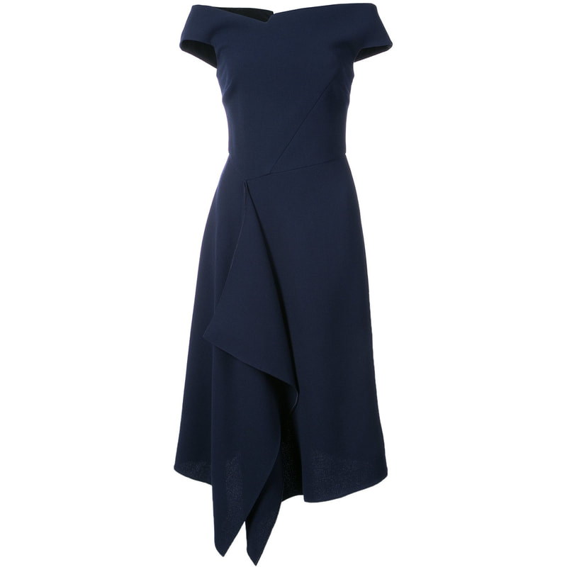 Roland Mouret Navy Barwick Dress
