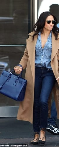 360445e8e936 Saint Laurent Sac de Jour Bag in Royal Blue Leather - Meghan ...