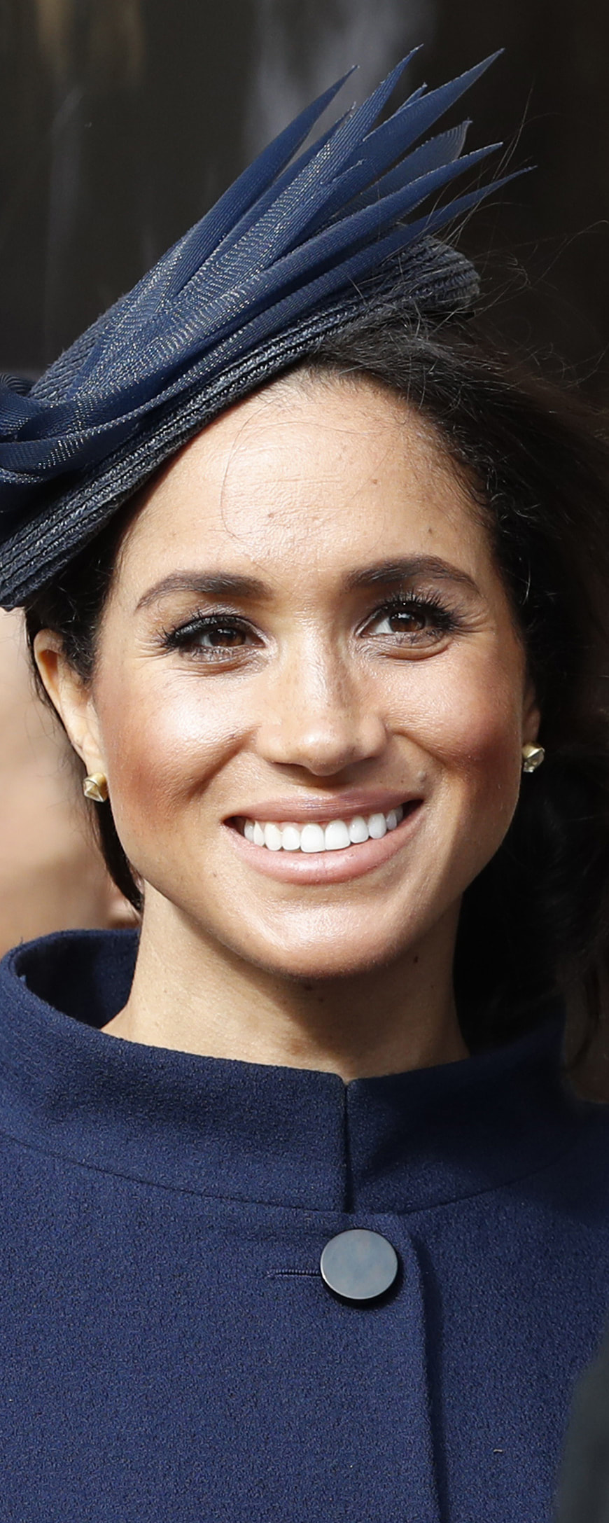 Pippa Small Herkimer Diamond Stud Earrings as seen on Meghan Markle, the Duchess of Sussex at wedding of Princess Eugenie and Jack Brooksbank