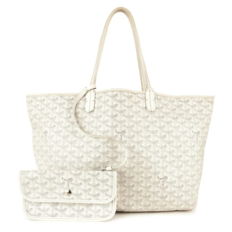 Goyard Goyardine St Louis Pm White Grey Tote Bag Meghan Markle S Handbags Fashion
