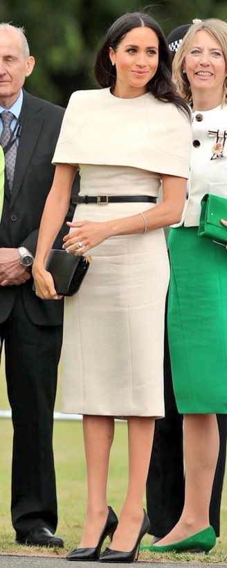 Givenchy Black 2G Buckle Belt as seen on Meghan Markle in Cheshire 2018