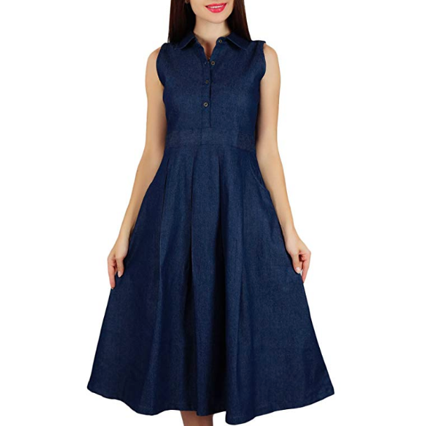 2575007a10 Carolina Herrera V-Neck Faux Wrap Denim Midi Dress - Meghan Markle ...