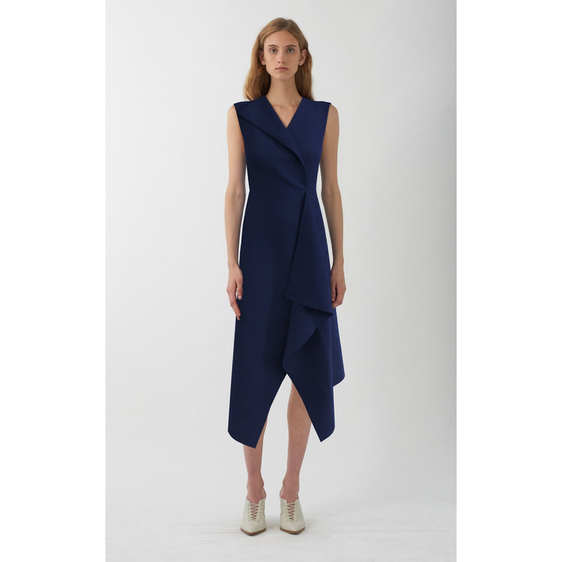 Dion Lee Folded Sail Navy Dress
