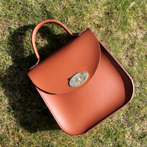 Charlotte Elizabeth New Edition Bloomsbury Bag in Chestnut Leather