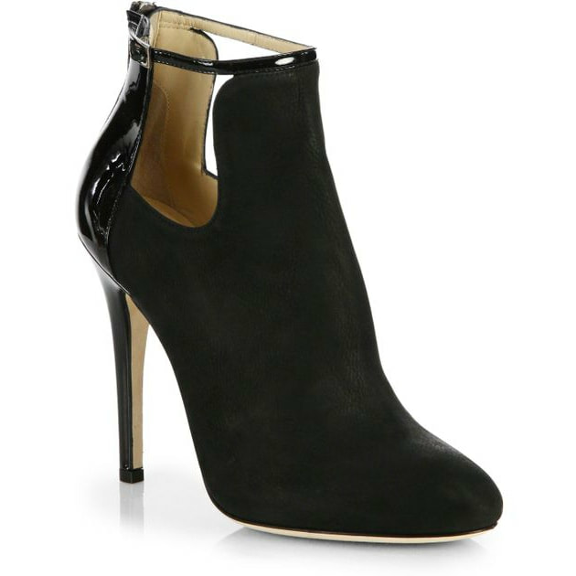 Jimmy Choo Luther Suede Cutout Bootie