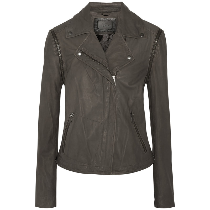 LINE Franklin Convertible Grey Leather Jacket