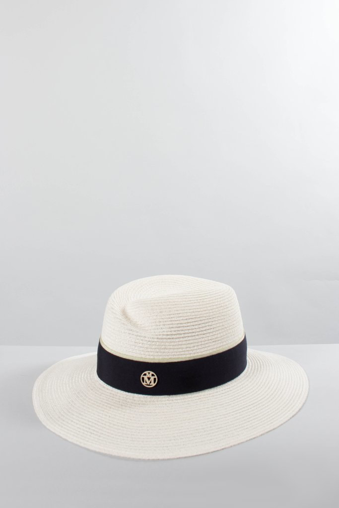 Maison Michel Ivory Straw VIRGINIE Hat