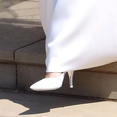 Meghan Markle wears Givenchy royal wedding shoes