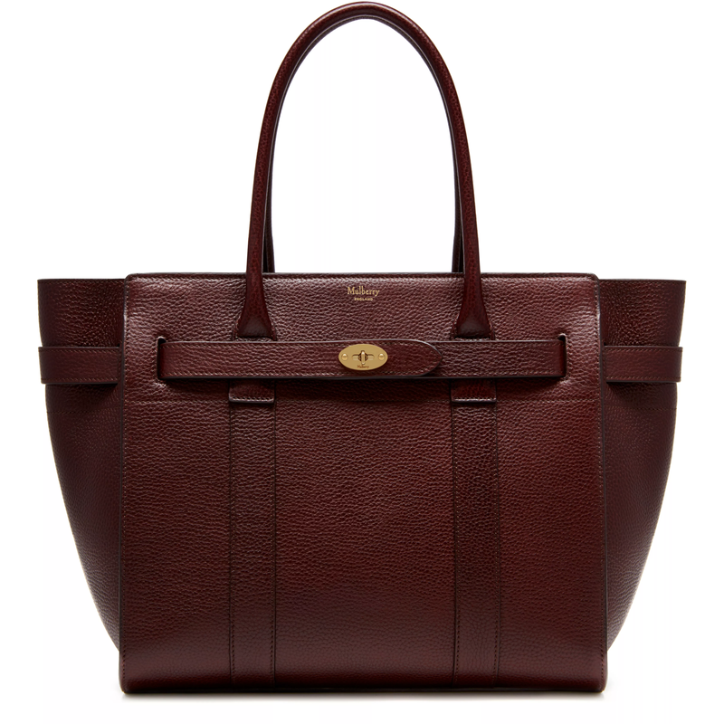 Mulberry Oxblood Zipped Bayswater Leather Bag