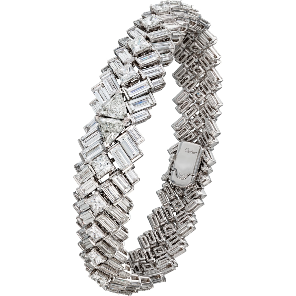 Cartier White Gold Reflection Diamond Bracelet