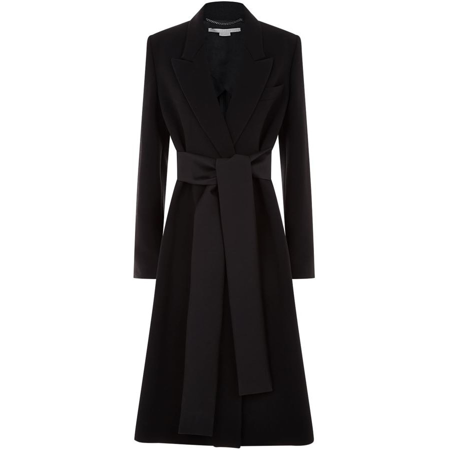 Stella McCartney Black Tie Detail Coat