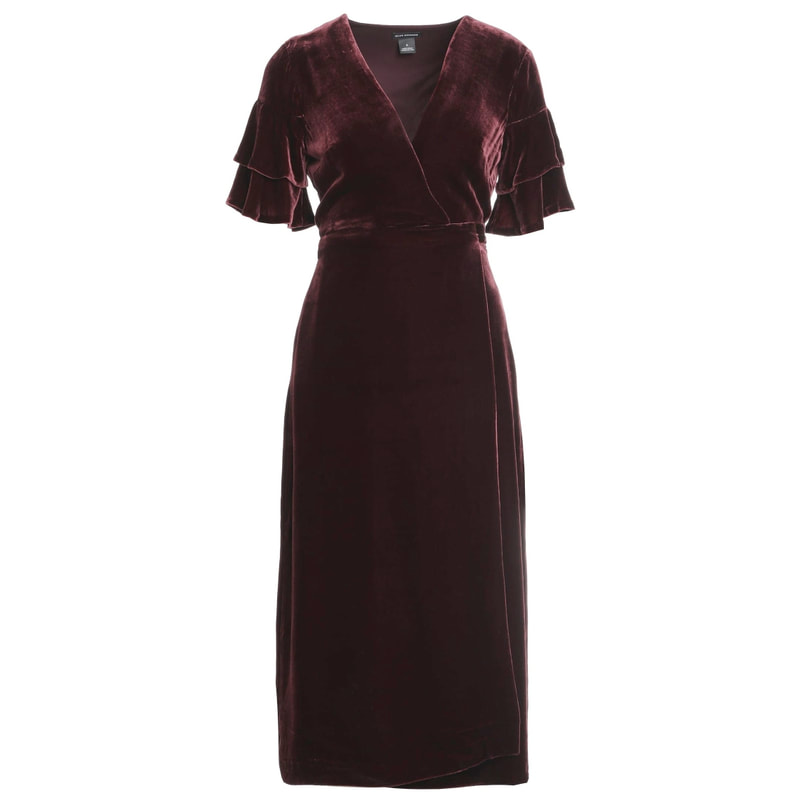 Club Monaco Tay Velvet Wrap Dress