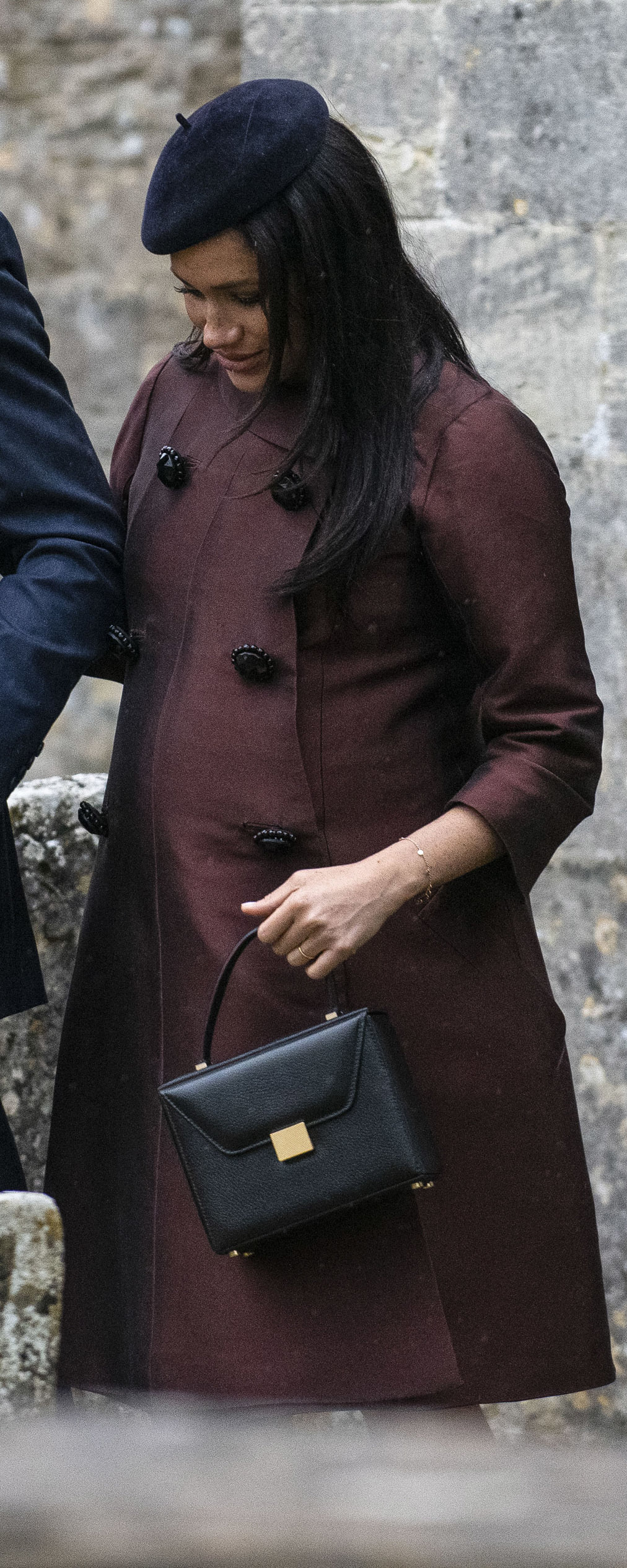 William Vintage 1960's Dior Brown Silk Coat as seen on Meghan Markle, the Duchess of Sussex