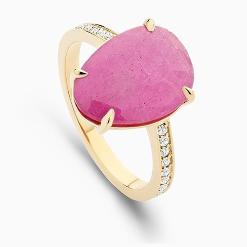 Ecksand Cirque Ruby Ring