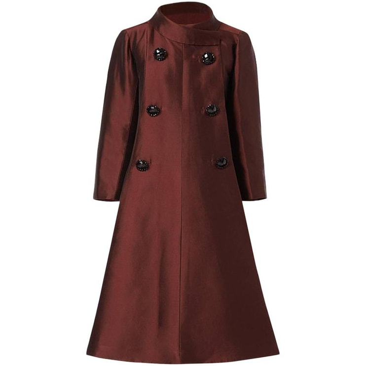 William Vintage 1960's Dior Brown Silk Coat