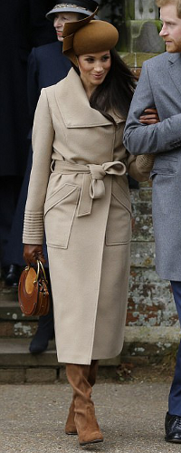 Stuart Weitzman Highland Nutmeg Suede Boot as seen on Meghan Markle