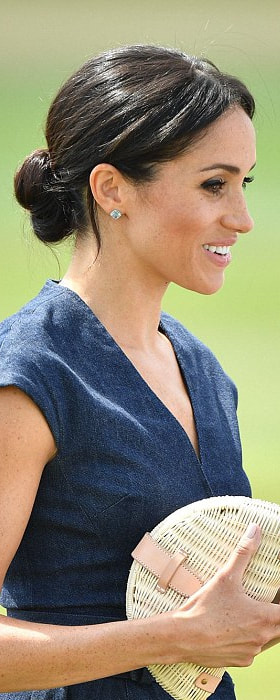 Birks Bee Chic Blue Topaz Silver Earrings as seen on Meghan Markle, the Duchess of Sussex at Sentebale Polo Cup 2018