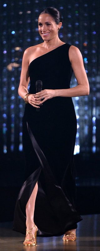 Givenchy Black One Shoulder Velvet Gown as seen on Meghan Markle, the Duchess of Sussex
