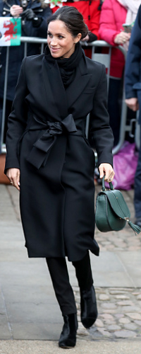 Demellier London The Mini Venice in Forest Green as seen on Meghan Markle