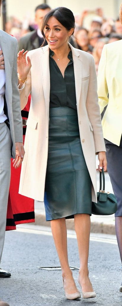 Stuart Weitzman Legend Suede Pump in Haze Beige as seen on Meghan Markle, the Duchess of Sussex in Sussex