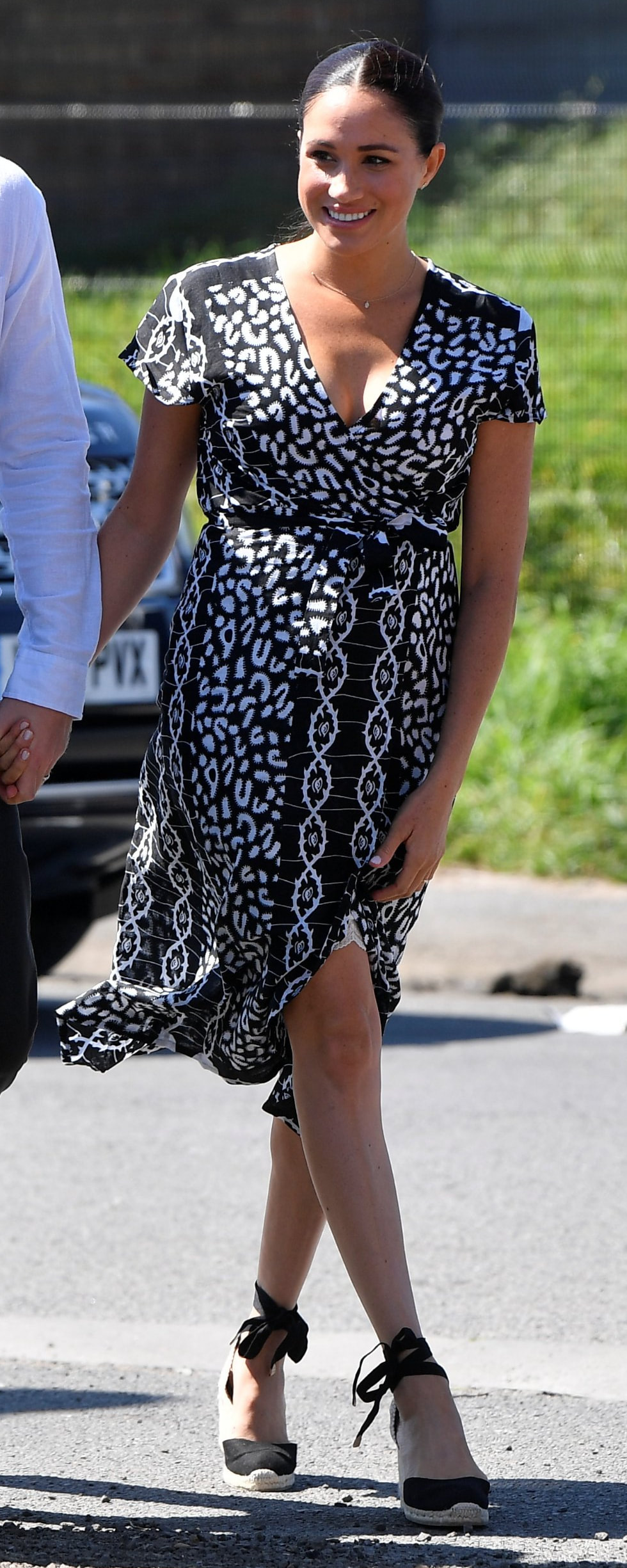 Mayamiko Dalitso Maxi Wrap Dress as seen on Meghan Markle, the Duchess of Sussex