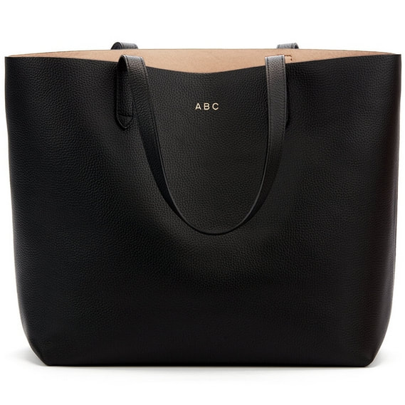 Cuyana Black Classic Structured Leather Tote