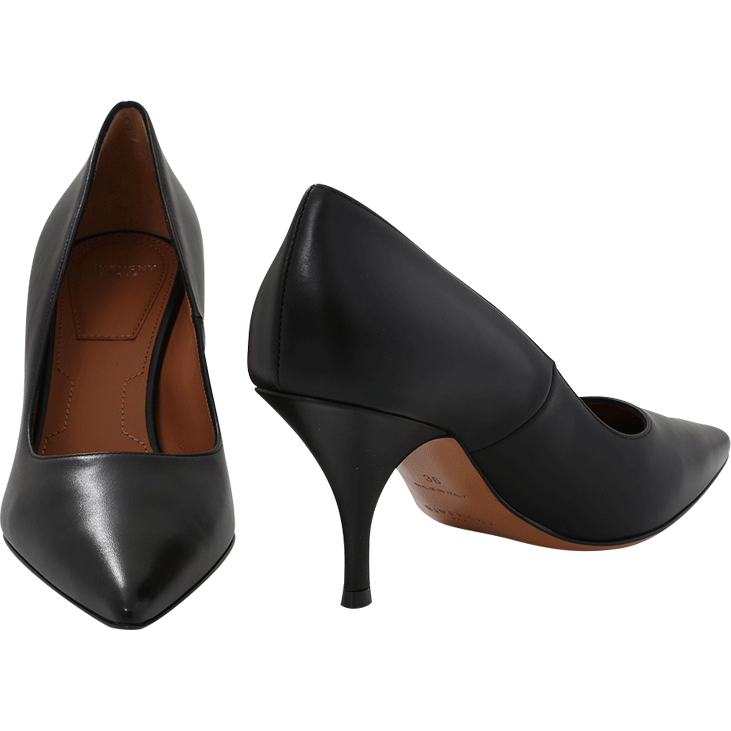 Givenchy Infinity 80 Black Leather Pumps