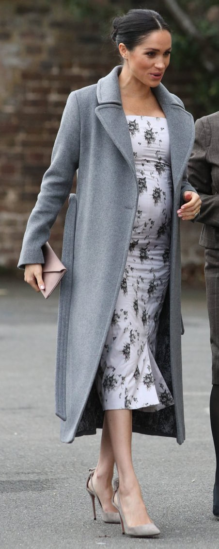 Soia & Kyo Adelaida Ash Grey Coat as seen on Meghan Markle, the Duchess of Sussex
