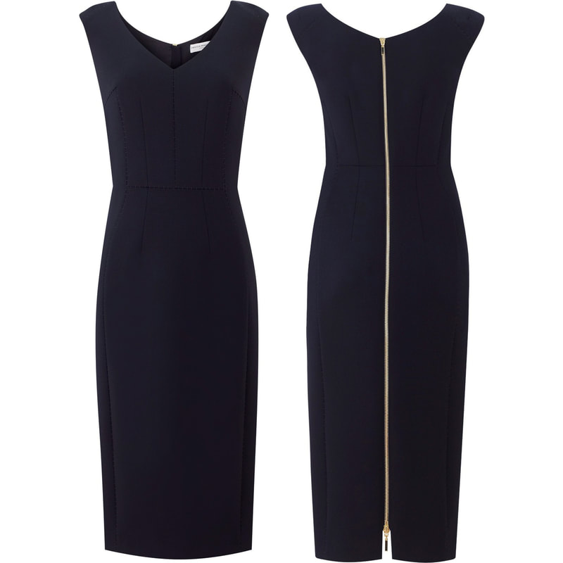 Amanda Wakeley Springsteen Midnight Blue Tailored Midi Dress