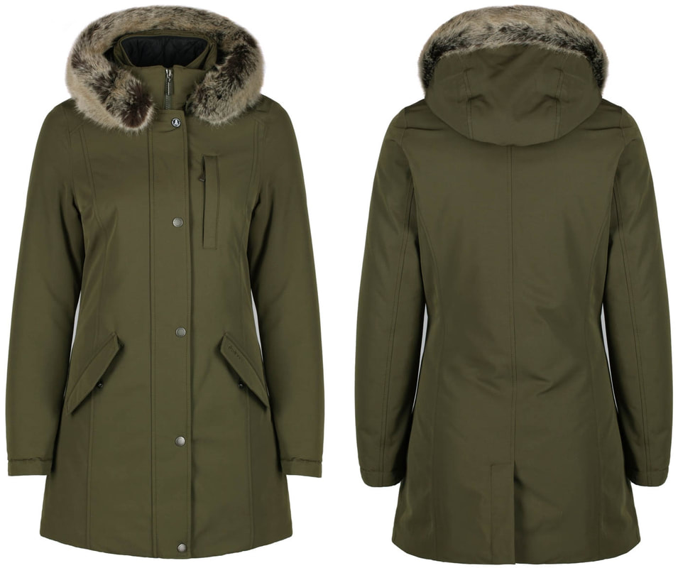 Barbour Epler Faux Fur Trim Waterproof Parka