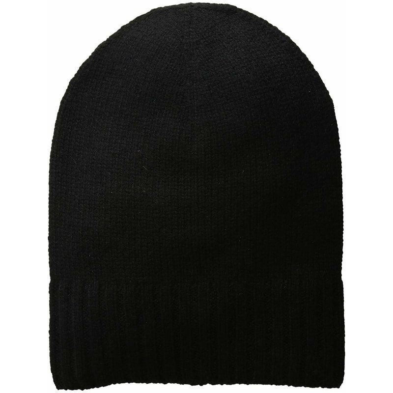 Meghan Must-Haves Hat Attack Black Cashmere Slouchy Cuff Hat​