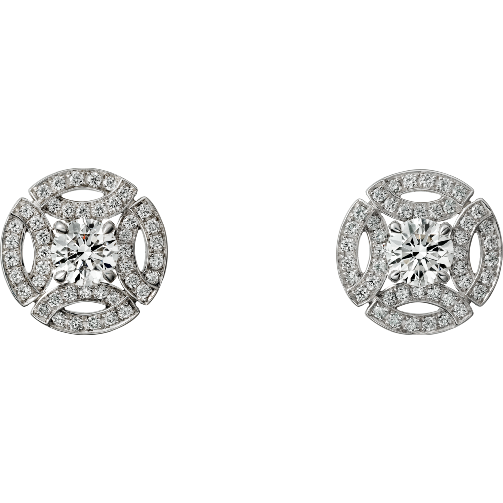 Cartier 'Galanterie' Diamond Stud Earrings