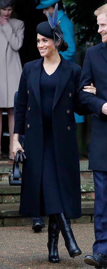 Victoria Beckham Black Powder Box Bag as seen on Meghan Markle, the Duchess of Sussex