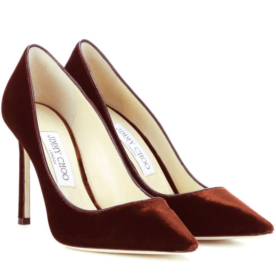 Jimmy Choo 'Romy' Pumps in Oxid Velvet