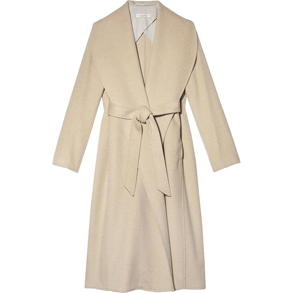 Alex Eagle Dark Camel Wrap Coat