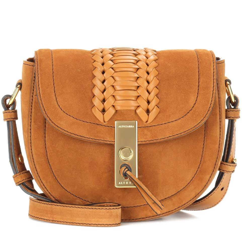 Altuzarra Ghianda Saddle Mini Suede Shoulder Bag