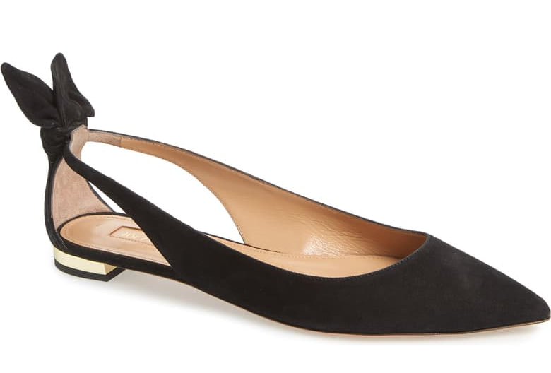 Aquazzura 'Deneuve' Bow Pointy Flat
