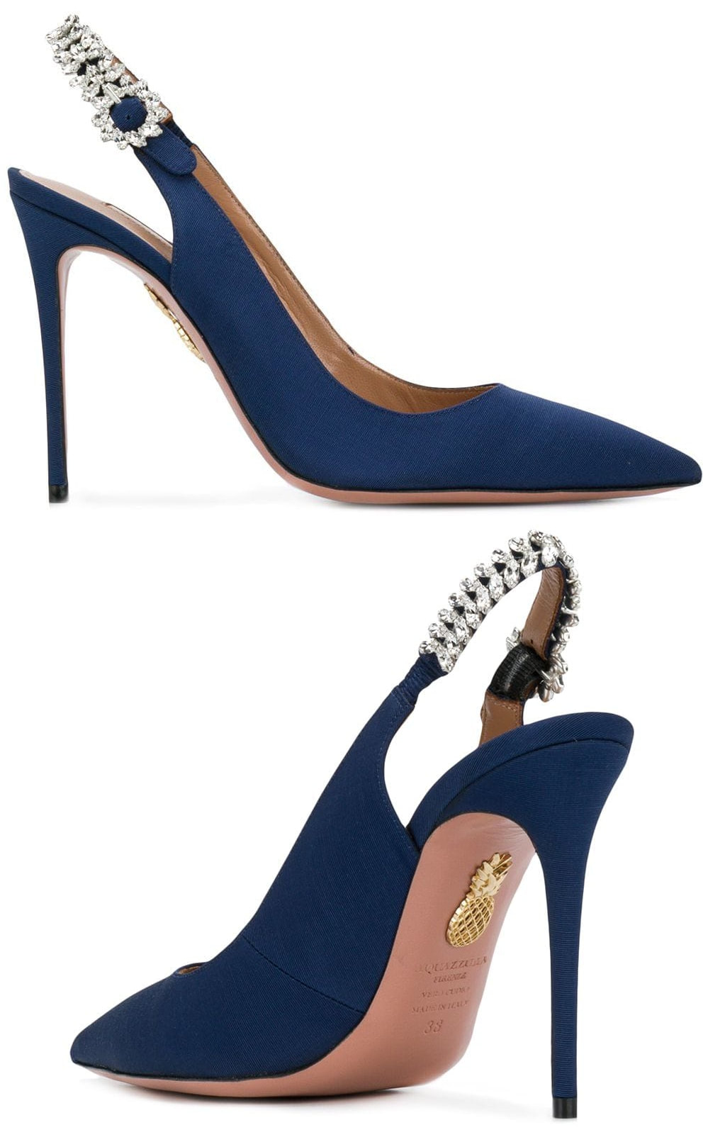 Aquazzura 'Portrait of Lady' sling pumps in admiral blue