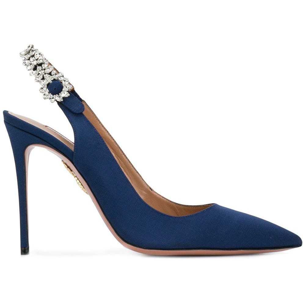 Aquazzura Portrait of a Lady Sling Pumps in Admiral Blue
