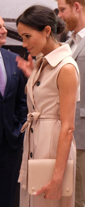 Birks Bee Chic White Quartz Silver Earrings as seen on Meghan Markle, the Duchess of Sussex at Nelson Mandela Exhibition