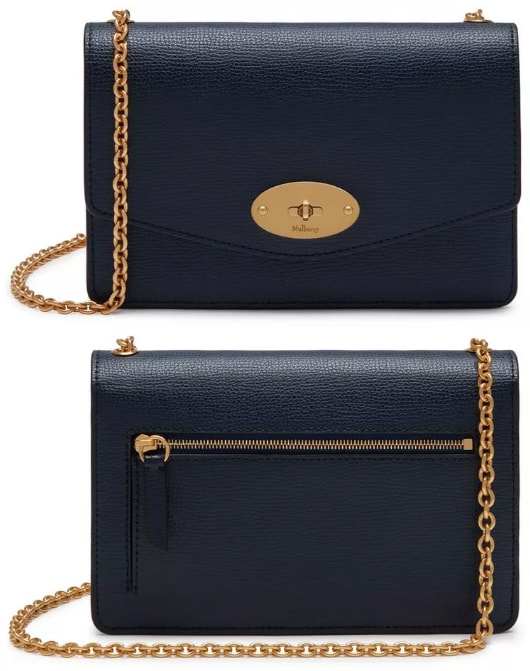 Mulberry Small Darley Satchel IN Bright Navy Cross Grain Leather as seen on Meghan Markle