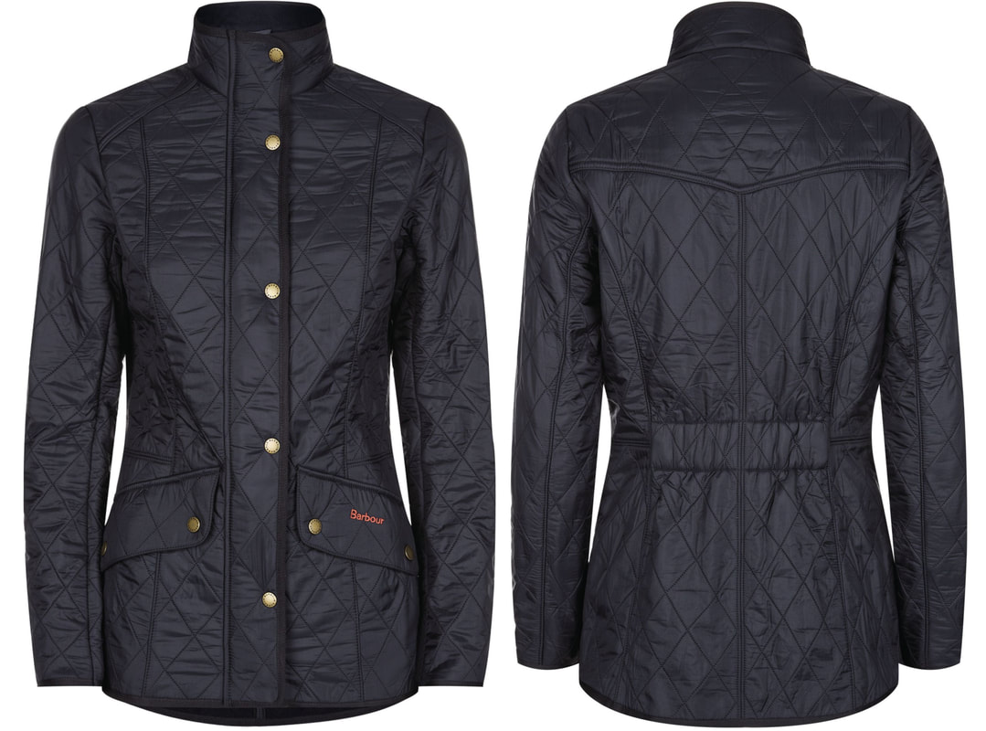 Barbour Calvary navy polarquilt jacket