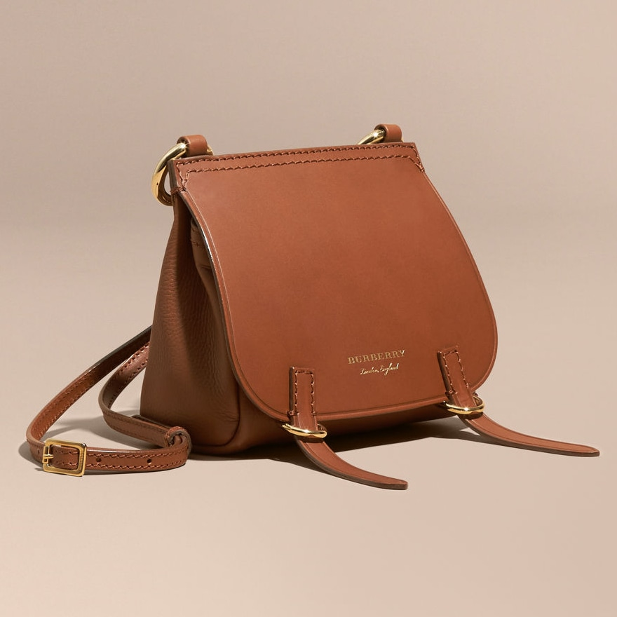 Burberry The Baby Bridle Bag in Tan Leather