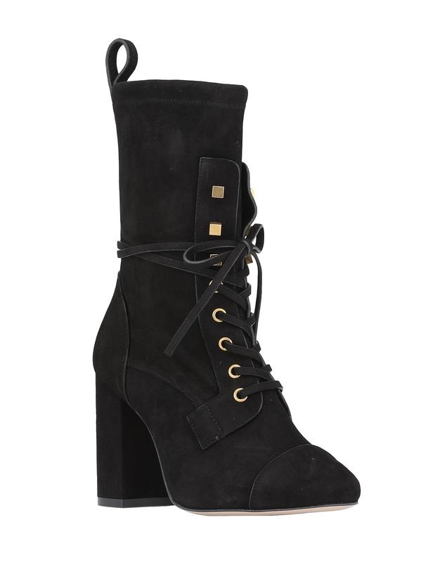 Stuart Weitzman Veruka Black Suede Lace-Up Boot