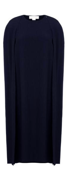 Stella McCartney Navy Blue Cape Dress