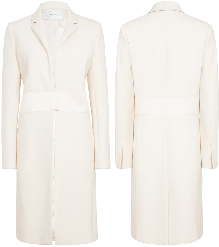 Amanda Wakeley Cream Sculpted Tailoring Crombie Coat as seen on Meghan Markle