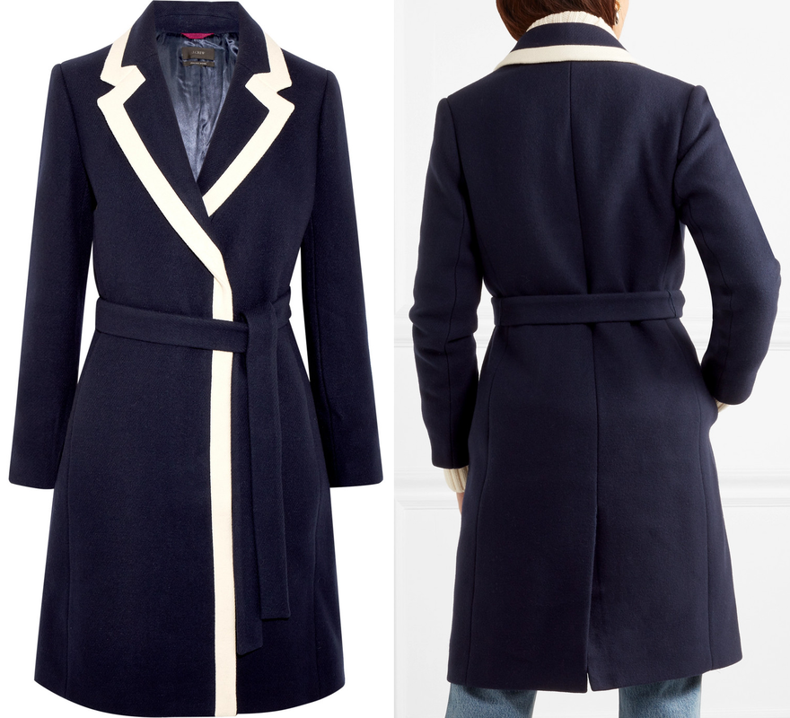 J.Crew Navy Tipped Topcoat as seen Meghan Markle