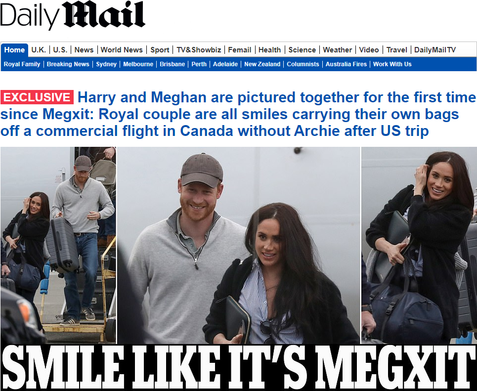 Meghan and Harry Arrive in Canada from USA February 2020