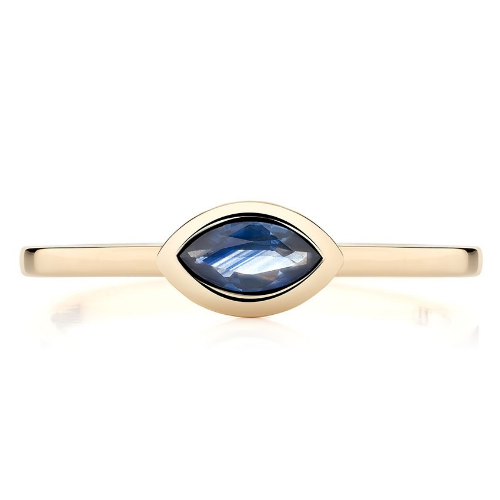 Ecksand Marquise-cut Blue Sapphire Showcase Stackable Ring