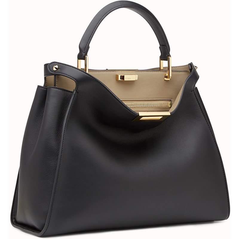 Fendi Peekaboo Essential Bag in Black Calfskin